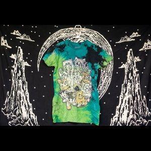 Tops - Cat T-shirt tie dye